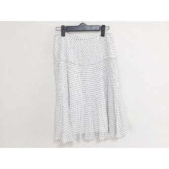 【中古】 ニジュウサンク 23区 スカート サイズ38 M レディース 美品 白 黒 ドット柄