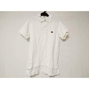 【中古】 サイ SCYE 半袖ポロシャツ サイズ40 M メンズ 白 ダークネイビー