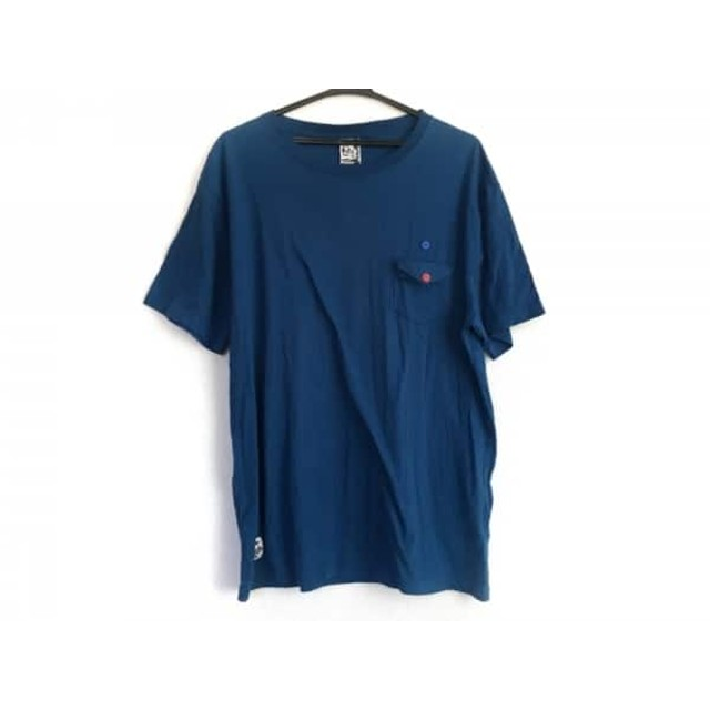 【中古】 チャムス CHUMS 半袖Tシャツ サイズXL メンズ ネイビー