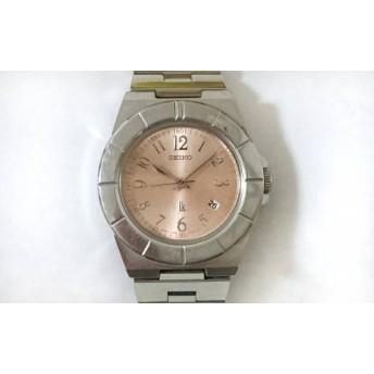 【中古】 セイコー SEIKO 腕時計 ルキア 7N82-0620 レディース ピンクベージュ