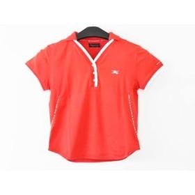 【中古】 バーバリーゴルフ BURBERRYGOLF 半袖ポロシャツ サイズM レディース レッド 白