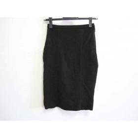 【中古】 ルシェルブルー LE CIEL BLEU スカート サイズ38 M レディース 黒 ニット