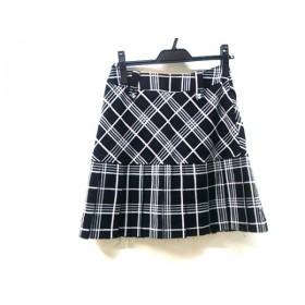 【中古】 ノーブランド ミニスカート サイズ61-87 レディース 黒 白