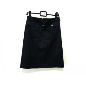【中古】 バーバリーロンドン Burberry LONDON スカート サイズ36 M レディース 美品 ダークネイビー