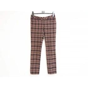 【中古】 ジャスグリッティー JUSGLITTY パンツ サイズ2 M レディース ダークブラウン