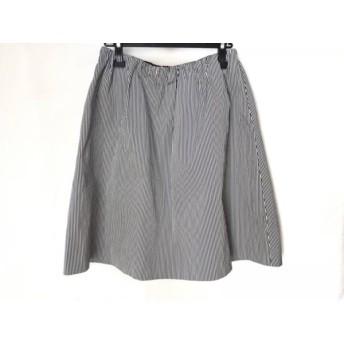 【中古】 ニジュウサンク 23区 スカート サイズ40 M レディース 黒 白 ストライプ