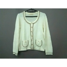 【中古】 レッセパッセ LAISSE PASSE ジャケット サイズ38 M レディース 美品 白 フェイクパール