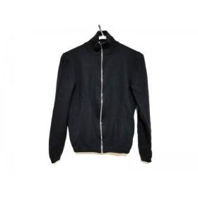 【中古】 プラダ PRADA 長袖セーター サイズ48 M メンズ 黒 ジップアップ