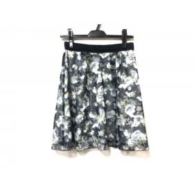 【中古】 アプワイザーリッシェ スカート サイズ1 S レディース ネイビー 白 グリーン 花柄