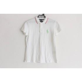 【中古】 ラルフローレンゴルフ 半袖ポロシャツ サイズM レディース 美品 アイボリー ライトグリーン