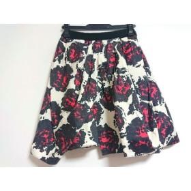 【中古】 エッグス eggs スカート サイズ38 M レディース アイボリー 黒 レッド