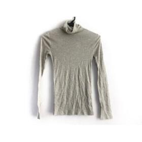 【中古】 ラルフローレン 長袖Tシャツ サイズM レディース 美品 ライトグレー グレー タートルネック