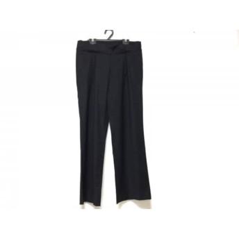 【中古】 セオリー theory パンツ サイズ0 XS レディース 黒 サイドジップ/フェイクレイヤード