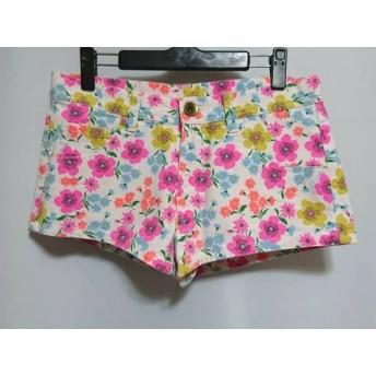 【中古】 ロデオクラウンズ RODEOCROWNS ショートパンツ サイズ2 M レディース ピンク マルチ 花柄