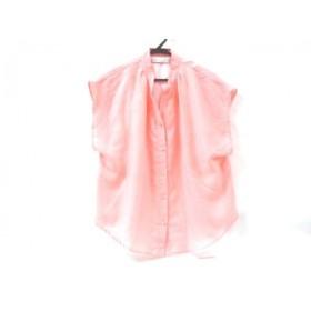 【中古】 コラージュ Collage ノースリーブシャツ サイズM M レディース ピンク ホワイト