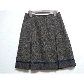 【中古】 ニジュウサンク 23区 スカート サイズ38 M レディース 黒 ライトブラウン アイボリー