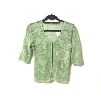 【中古】 ヴィヴィアンタム カーディガン サイズ0 XS レディース 美品 ライトグリーン ピンク シースルー