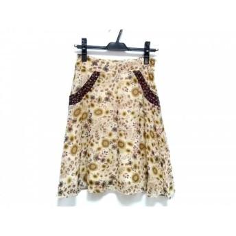 【中古】 トゥモローランド TOMORROWLAND スカート サイズ0 XS レディース ベージュ イエロー マルチ
