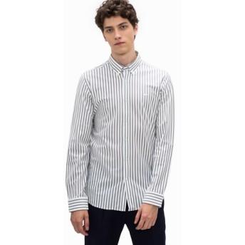 鹿の子ストライプシャツ(長袖)