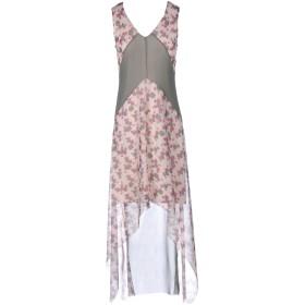 《セール開催中》SISTE' S レディース ロングワンピース&ドレス ミリタリーグリーン 44 ポリエステル 100%