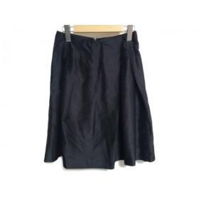 【中古】 トゥモローランド TOMORROWLAND スカート サイズ36 S レディース 黒 シルク