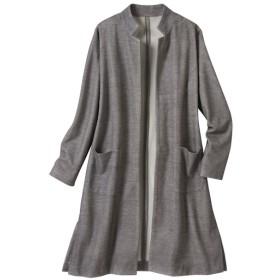 40%OFF【レディース大きいサイズ】 ロングジャケットコート(手洗いOK) - セシール ■カラー:チャコールグレー ■サイズ:6L,3L,4L,5L