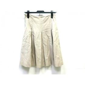 【中古】 エムプルミエ M-PREMIER スカート サイズ36 S レディース ライトベージュ