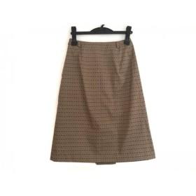【中古】 ジユウク 自由区/jiyuku スカート サイズ38 M レディース 美品 ライトブラウン ダークブラウン