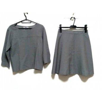 【中古】 ビアッジョブルー Viaggio Blu スカートセットアップ サイズ2 M レディース グレー