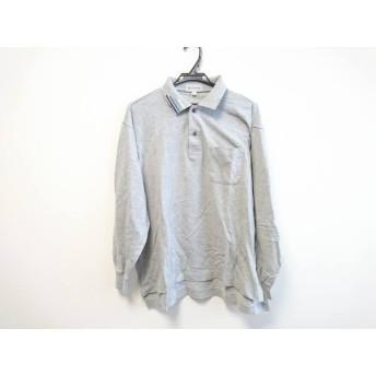 【中古】 バーバリーズ Burberry's 長袖ポロシャツ メンズ グレー