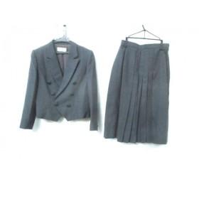 【中古】 ノーブランド スカートスーツ レディース グレー 黒