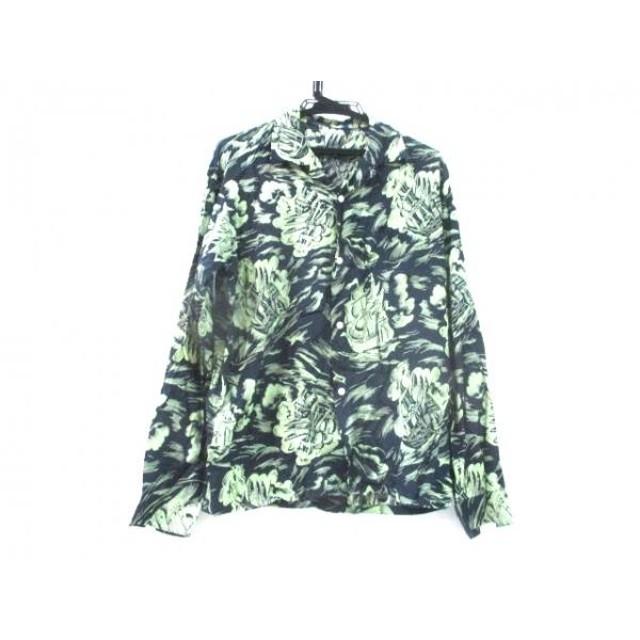 【中古】 ノーブランド 長袖シャツ サイズS メンズ ネイビー グリーン