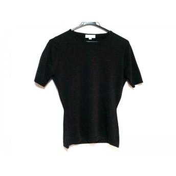 【中古】 ジョンスメドレー JOHN SMEDLEY 半袖セーター サイズS レディース 黒