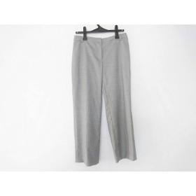 【中古】 ドゥサン パンツ サイズ42 L レディース 美品 ダークグレー アイボリー ストライプ/七分丈