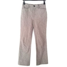 【中古】 ビースリー B3 B-THREE パンツ サイズ32 XS レディース 黒 白 千鳥格子