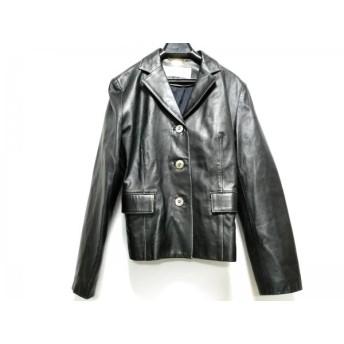 【中古】 バルマン BALMAIN ジャケット サイズ11 M レディース 美品 黒 レザー