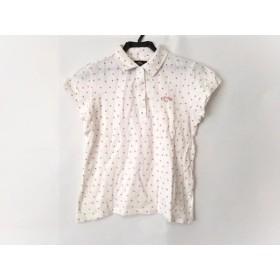 【中古】 キャロウェイ CALLAWAY 半袖ポロシャツ サイズL レディース 白 ピンク スター