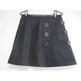 【中古】 イッサロンドン ISSA スカート サイズUS8 UK12 レディース 美品 黒