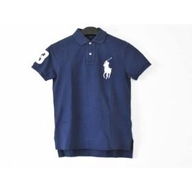 【中古】 ポロラルフローレン 半袖ポロシャツ サイズXS メンズ ビッグポニー ネイビー 白