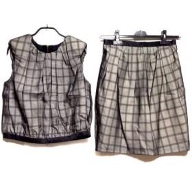 【中古】 ドゥロワー Drawer スカートセットアップ サイズ36 S レディース 黒 白 ベージュ