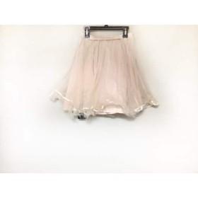 【中古】 ドロシーズ DRWCYS スカート サイズ1 S レディース 美品 ベージュ チュール