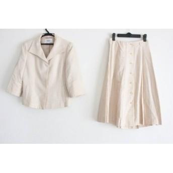 【中古】 ジユウク 自由区/jiyuku スカートスーツ サイズ40 M レディース ベージュ アイボリー