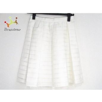 アプワイザーリッシェ スカート サイズ0 XS レディース 美品 アイボリー ボーダー   スペシャル特価 20200205