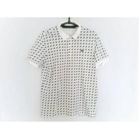 【中古】 ラコステ Lacoste 半袖ポロシャツ サイズ4 XL メンズ 美品 白 グリーン
