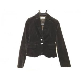 【中古】 レッセパッセ LAISSE PASSE ジャケット サイズ36 S レディース 黒 ベロア
