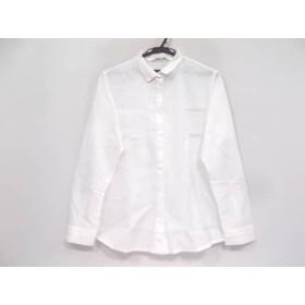 【中古】 ワイエムシャツ ym shirts 長袖シャツブラウス サイズ2 M レディース 白