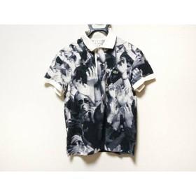 【中古】 ヴィジョネアー 半袖ポロシャツ サイズ2 M レディース ネイビー アイボリー LACOSTE