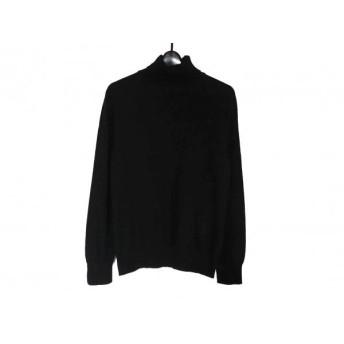 【中古】 ランバンコレクション LANVIN COLLECTION 長袖セーター メンズ 黒 タートルネック/カシミヤ