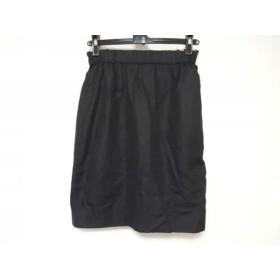 【中古】 ジャスグリッティー ミニスカート サイズ2 M レディース 黒 ピンク リバーシブル/ドット柄