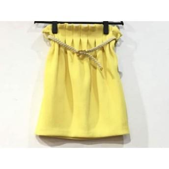 【中古】 リリーブラウン Lily Brown スカート サイズ1 S レディース 美品 イエロー